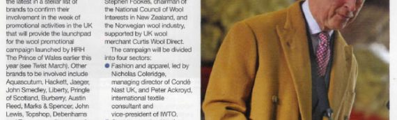 Top UK retailers join 'Campaign for Wool'